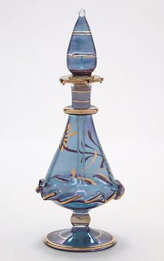 Egyptian Perfume Bottles - Blown Glass Bottle -