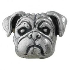 #Pug Bark Beads, $79.95, 925 Sterling Silver, Compatible with Trollbeads, Pandora, and Chamilia bracelets, Hand-crafted in the USA, Available at ANDREW GALLAGHER JEWELERS, Newark, DE 302-368-3380