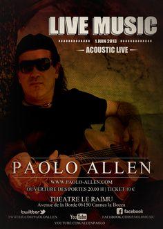 Concert Paolo Allen le 1 Juin 2013