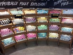 Shopping for Mothers Day, found this great display of bath bombs amongst other homemade soaps in Belfast.