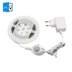 [Dbf] motion activado cama luz, tira flexible del led sensor de luz de la noche de iluminación con temporizador de apagado automático