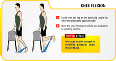 Knee flexion. (exercise / resistance bands should be used under professional supervision & guidance).