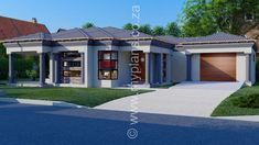 3 Bedroom House Plan - My Building Plans South Africa 4 Bedroom House Plans, Family House Plans, Single Storey House Plans, House Plans South Africa, Beautiful House Plans, Tuscan House, Dream House Exterior, Story House, My Dream Home