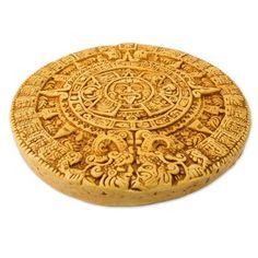 Novica Angel Cerón Archaeological Ceramic Sunstone From Mexico