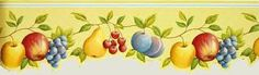 modern wallpaper in yellow color with fruits