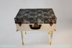 Vintage suitcase tables in furniture  with Vintage Table suitcase