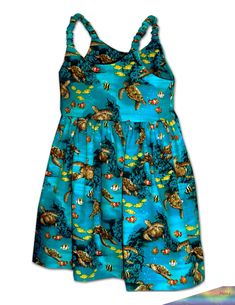 Hawaiian Palm Tree and Sea Turtle Newborn Baby Newborn Short Sleeve Tee Shirt 6-24 Month 5 Tops