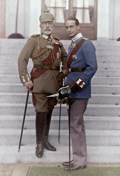 Emperor-in-exile Wilhelm II with his grandson Prince Louis Ferdinand in 1929.