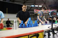 Sports Stacking at Let's Play event in Tacoma Cup Games, Lets Play, Basketball Court, Let It Be, Sports, Hs Sports, Sport