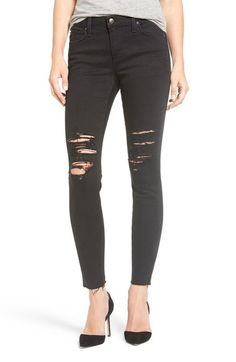02ac65a8f6c35 Joe s Jeans Flawless Icon Destroyed Ankle Skinny Jeans available at   Nordstrom Cropped Skinny Jeans