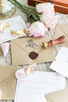 These Valentine's Day wax seal cards are the perfect nostalgic gift for your Valentine this year. #valentinesday #valentines #calligraphy