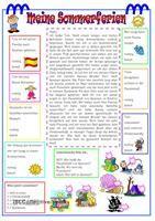 Präsens/ PerfektLesetext mit 3 Aufgaben- Bilder nummerieren (Infos im Text)- Perfekt bilden- InfinitivUmfang: 6 Seiten (Farbe + SW + Lösung)Viel Freude damit! ; ) - DaF Arbeitsblätter