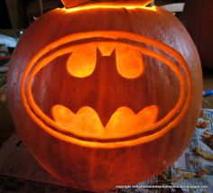 Just a preview for now, as I've only just finished the basic carve/gouge of the Batman pumpkin.   I meant to time how long it took, but...