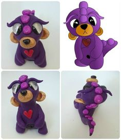 Polymer Clay Alien Bear Twisted & Troublesome Friends  March 2015