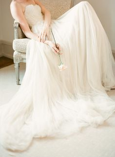 Samuelle Couture Wedding Gown   On Style Me Pretty   Photography: KT Merry
