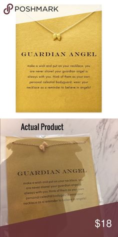 Guardian Angel Necklace with Card ⭐️⭐️⭐️⭐️⭐️ 5 star rated! Guardian Angel necklace with card. Makes a beautiful gift! ✨14k gold dipped✨  Bundle discount available!  🍍Posh Ambassador! 🍍5 Star Rated Seller!  🍍Same or next day shipper! 🐶Dog Friendly  🚭Smoke-Free  🚫No trades! ❌No half price offers Pineapple.PalmBeach Jewelry Necklaces