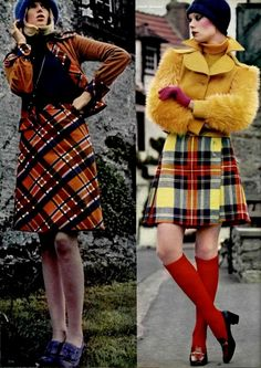 Scottish style.. kilt and tartan fashion, L'Officiel 1972 (via http://www.flickr.com/photos/teenjetset/)
