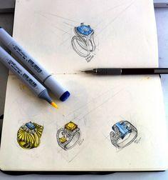 Sketch1 anéis com marcador copic. por Dani Aquino