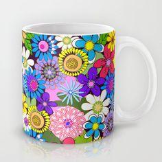 Cute Colourful Flowers Mug