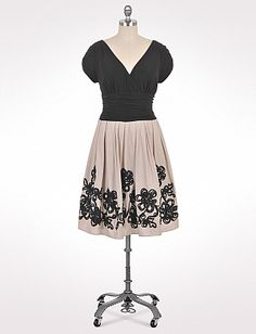 Plus Size Swirl Flower Party Dress   Dressbarn  I think this would be a cool MOB dress.