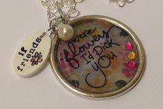 (th)INK Positive: Resin-ating With Happiness! - Lea has made a beautiful necklace with #EnviroTex #JewelryResin and #Stampendous Perfectly Clear Stamps from @Michaels Stores