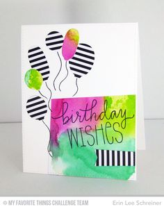 Birthday Wishes & Balloons, Birthday Wishes & Balloons Die-namics, Blueprints 26 Die-namics - Erin Lee Schreiner  #mftstamps