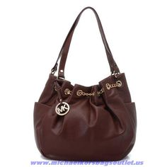Michael Kors Tote Leather Brown For Wholesale