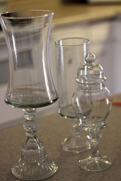 Glass dishes. Need to find some cut glass jars with lids like the one in picture.