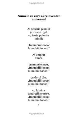 Cartea dorului: Poezii (Iubirea, un alt univers) (Volume (Romanian Edition) Words