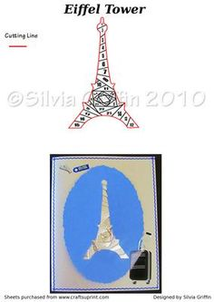 Eiffel Tower on Craftsuprint designed by Silvia Griffin - Eiffel Tower is the symbol of Pairs. Have been there and loved those croissants. Hope you can use this for your friends and family. Thanks for looking at my patterns. - Now available for download!