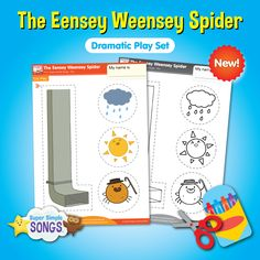 Act out the classic song, The Eensey Weensey Spider with this downloadable play set, from Super Simple Songs.