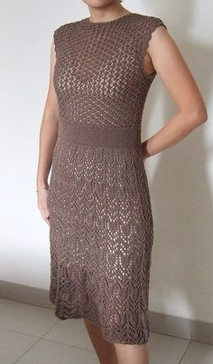 Lace Dress by Shirley Paden - Vogue Knitting, Spring/Summer 2008