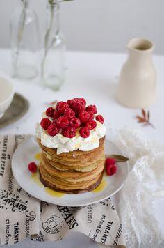 Coco e Baunilha: Panquecas de Espelta, Limão e Sementes de Papoila // Spelt Lemon Poppy Seed pancakes