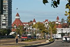 Coronado Island. Get yourself out to Coronado Island and visit the historic Victorian Hotel Del Coronado–they just don't make hotels like they used to.