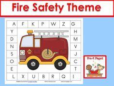 Fire safety theme ideas for your preschool or kindergarten classroom.