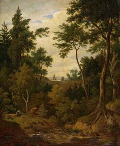 ANTONÍN MÁNES (1784-1843)  Krajina, 1842 Czech Republic, Painters, My Love, Garden, Life, Art, My Boo, Craft Art, Garten