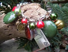"havranka / bracelet ""Noel"" Handmade Jewelry, Christmas Ornaments, Holiday Decor, Noel, Handmade Jewellery, Christmas Jewelry, Jewellery Making, Diy Jewelry, Christmas Decorations"