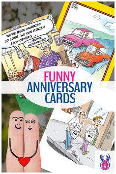 Our anniversary cards - funny, cute and darkly comical - are designed for young couples, more mature and experienced couples and same-sex couples. Successful long-term relationships require many things - compassion, forgiveness, understanding, fortitude, creativity, tolerance and strong, tamper-resistant chains. Oh yes, we forgot the most important thing - a healthy sense of humor.