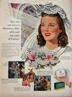 1947 Camay Soap Vintage Advertisement Bathroom Wall Art Powder Room Decor Original Magazine Print Ad Health & Beauty Wedding Bridal Ephemera by RelicEclectic on Etsy