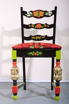 carefully painted and embroidered, this piece honors the art form of southern Mexico, from artist Veronica Prida