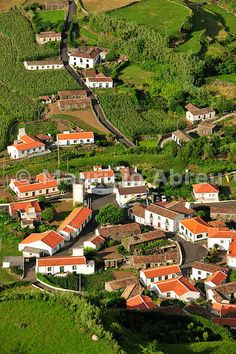 The little village of Fajazinha. The westernmost location in Europe. Flores, Azores islands, Portugal