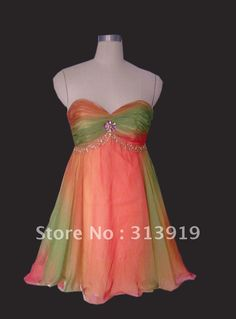 rainbow ombre prom dress - Google Search