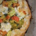 Tarta de zapallo italiano, tomate y mozarella