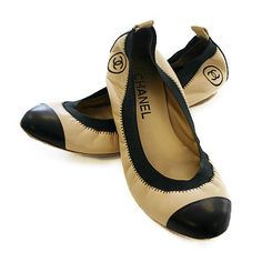 Classic Chanel flats - good enough to kiss the soles of your feet!