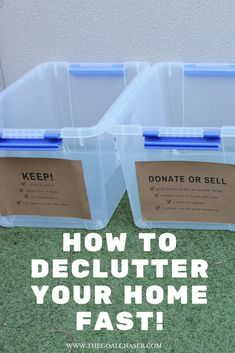 Has the clutter around your home become an overwhelming burden? Here& a simple way to declutter your home fast, once and for all! House Cleaning Tips, Cleaning Hacks, Clutter Organization, Organization Ideas, Organizing Tips, Decluttering Ideas, Organising Hacks, Organizing Solutions, Clutter Solutions