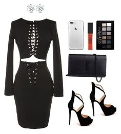 """Love"" by msheah-1 on Polyvore featuring Christian Louboutin, Yves Saint Laurent and Maybelline"