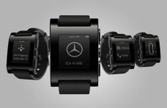Pebble smart watch (black)