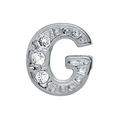 Crystal Silver G Initial Charm | Every Locket Tells a Story. #whatsyourstory http://www.origamiowl.com/PWPShowProduct.aspx?ProgramCategoryId=2&ProgramProductId=553 #OrigamiOwl