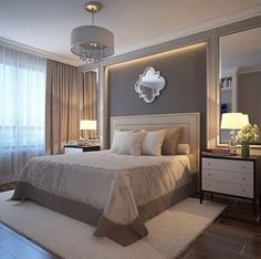ideas for bedroom hotel style night stands Luxury Bedroom Design, Master Bedroom Design, Dream Bedroom, Home Decor Bedroom, Modern Bedroom, Bedroom Designs, Bedroom Ideas, Master Bedrooms, Bedroom Bed