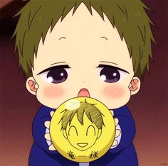 Kotaro holding a yellow ball with his brother's face on it. So cute! Lol this … Kotaro holding a yellow ball with his brother's face on it. So cute! Lol this was the butler's way for him to fetch the ball😅 Bebe Anime, All Anime, Manga Anime, Amaama To Inazuma, Tokyo Ghoul, Gakuen Babysitters, Familia Anime, Gekkan Shoujo, Anime Child